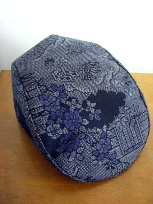 大島紬でリメイクする際の注意点…ハンチング帽子編
