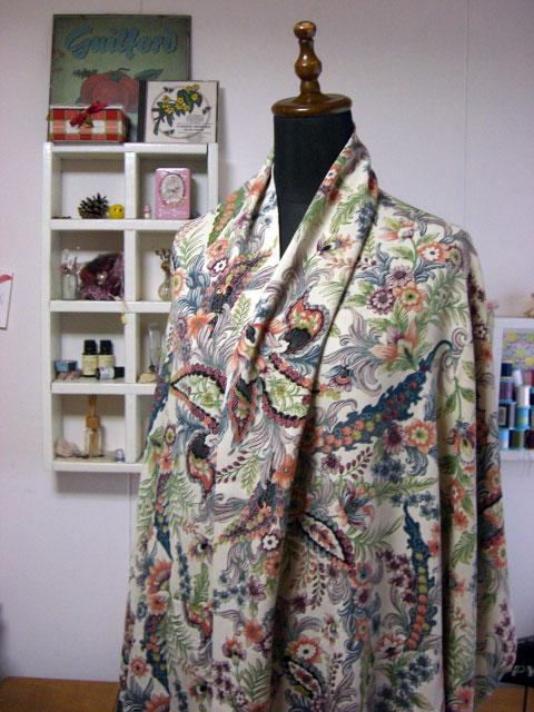 着物リメイクの基本的な進め方と考え方…大判ストールを例に