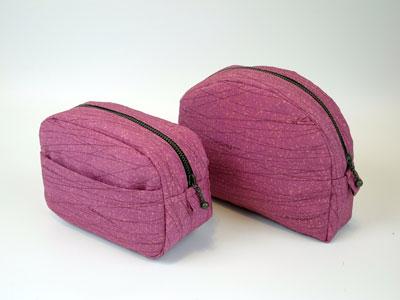 羽織をリメイクした製作実例…ポーチやグラニ-バッグ編