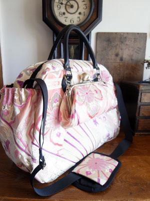 着物リメイクブログ@帯リメイクの参考に…ボストンバッグ、テーブルセンター、ハンドバッグ