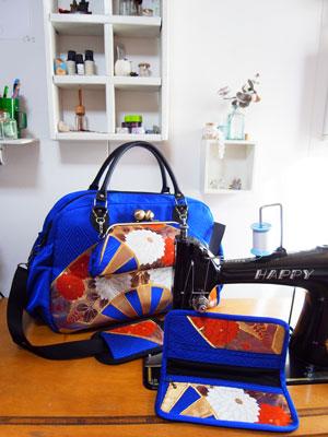 着物リメイクブログ@帯リメイクの作り方…ボストンバッグ、長財布、トートバッグ…etc