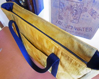 着物リフォームブログ@帯リメイクトートバッグと残布の活かし方