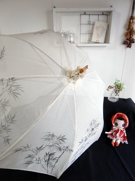 夏物着物リメイク実例 日傘