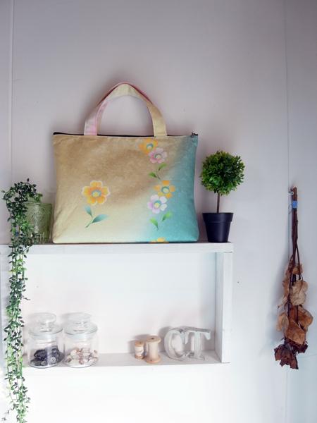 振袖リメイクハンドバッグ製作実例 富山のお客様もお気軽にご相談下さい