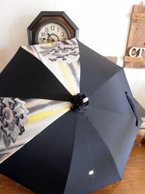 【投稿テスト】2種類の着物を使ってリメイクした日傘実例