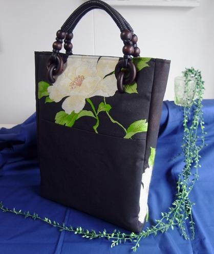 帯リメイクハンドバッグ製作実例と納品後のご感想
