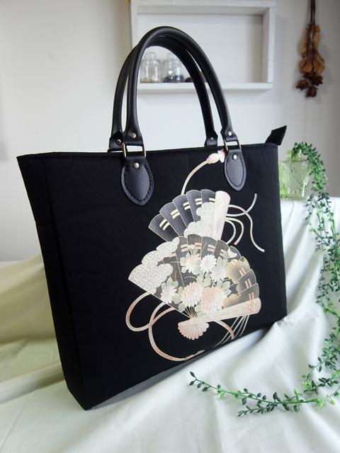 「とても品があってセンスがあると感じました。」…埼玉のお客様に羽織リメイクハンドバッグを納品致しました。