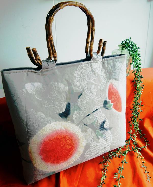 埼玉のお客様に納品させて頂いた着物リメイクハンドバッグ
