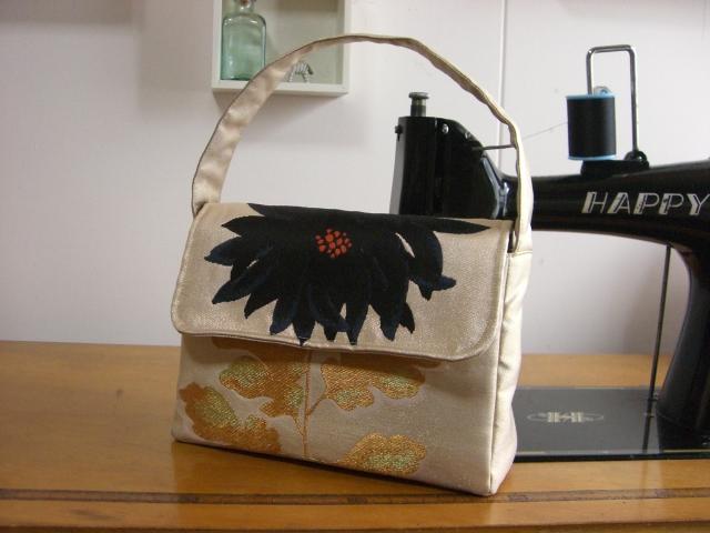 帯リメイクバッグ